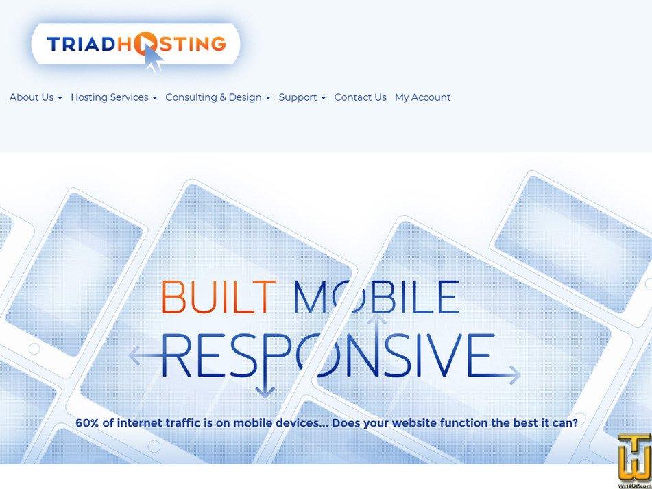 triadhosting.com Screenshot