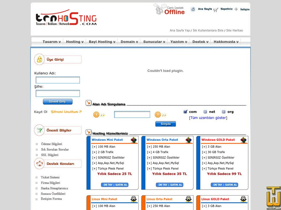 trnhosting.com Screenshot