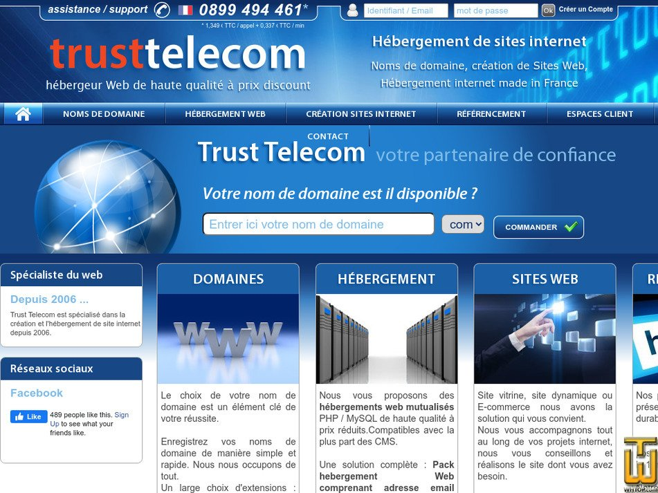 trusttelecom.fr Screenshot