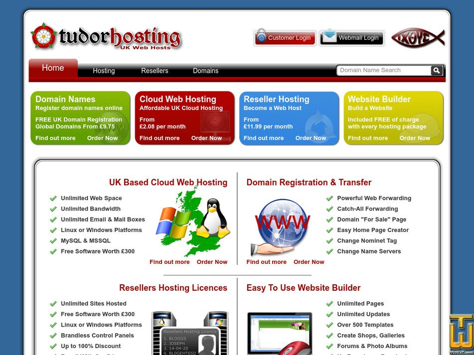 tudorhosting.co.uk Screenshot