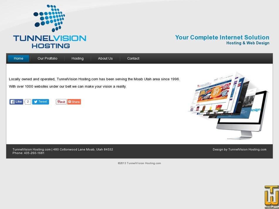 tunnelvisionhosting.com Screenshot