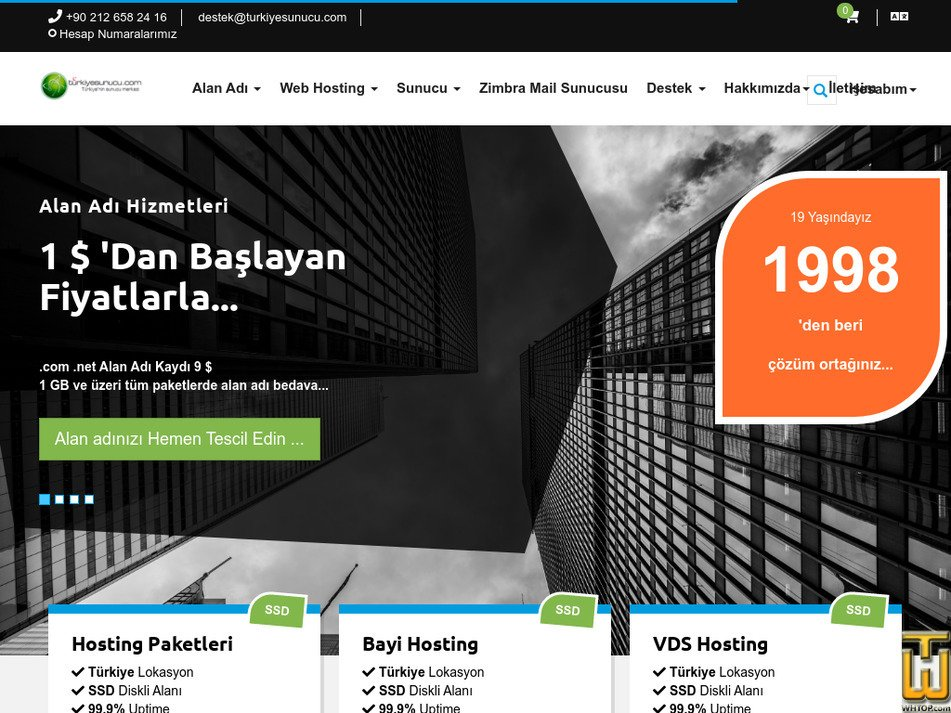 turkiyesunucu.com Screenshot