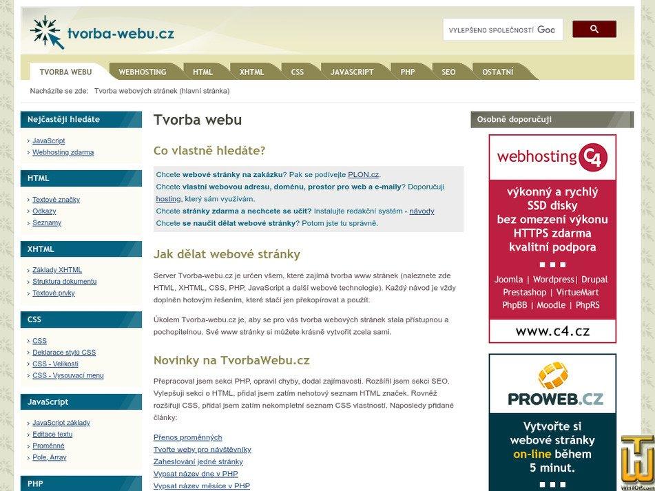 tvorba-webu.cz Screenshot
