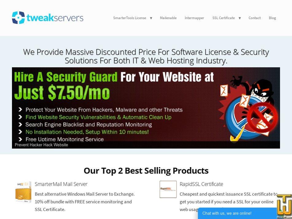 tweakservers.com Screenshot