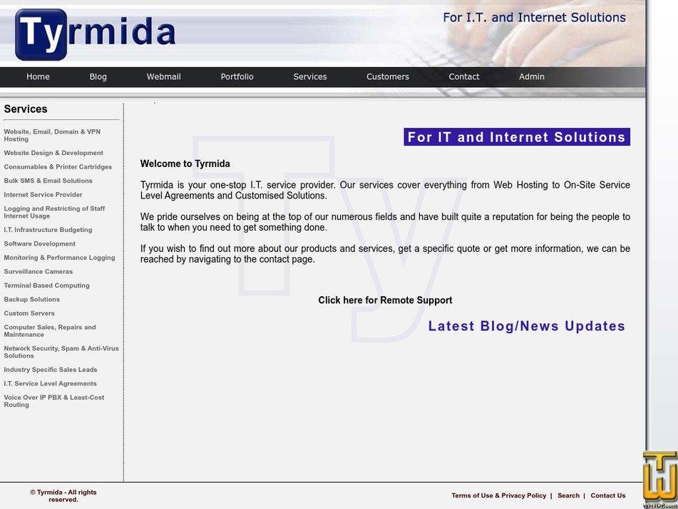 tyrmida.com Screenshot