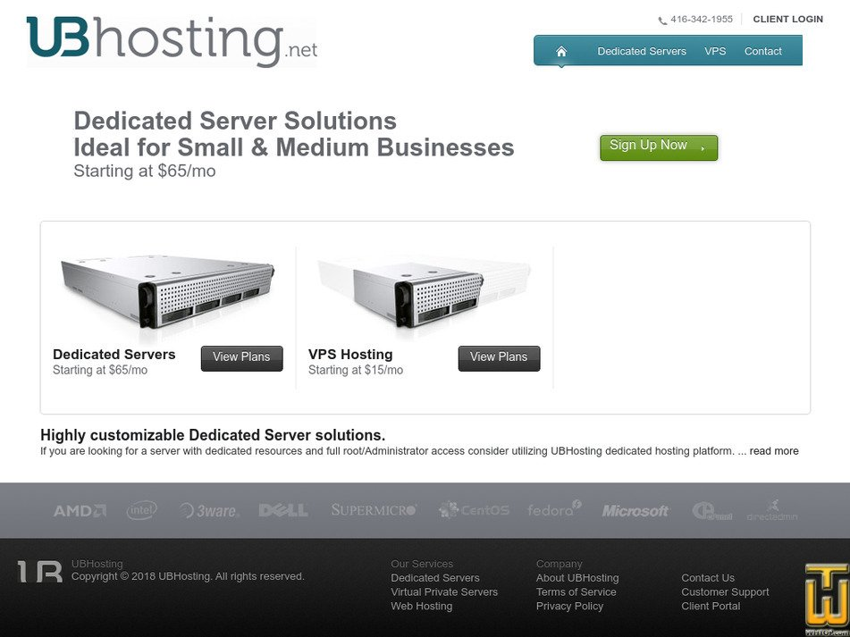 ubhosting.net Screenshot