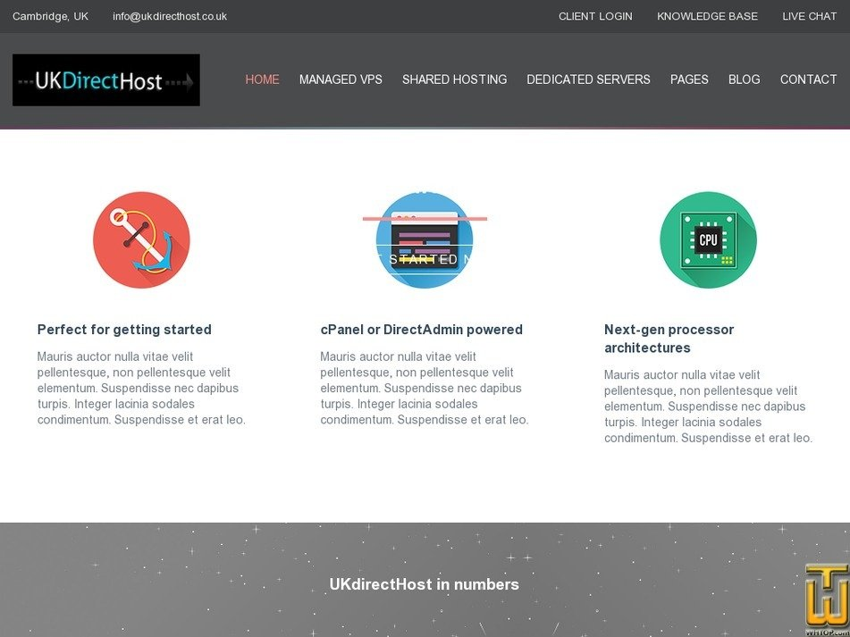 ukdirecthost.co.uk Screenshot