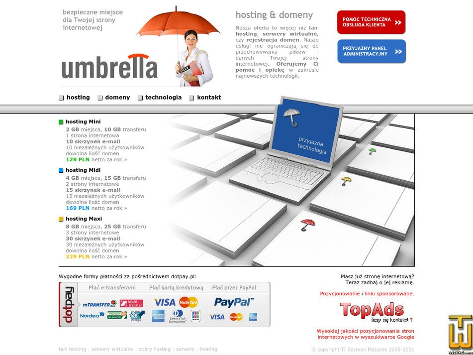umbrella-hosting.pl Screenshot