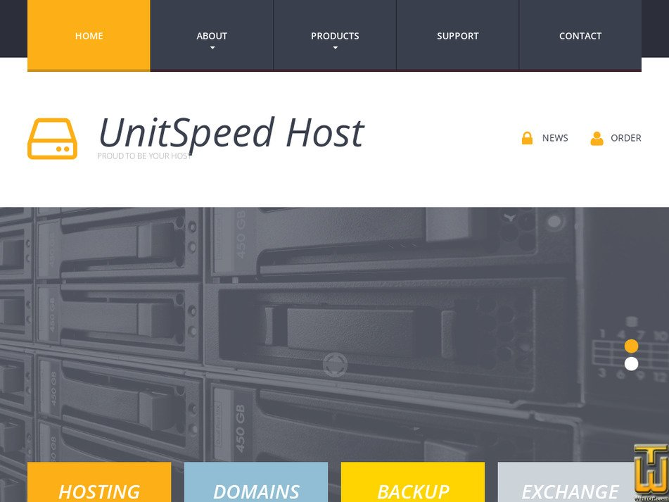 unitspeed.com Screenshot