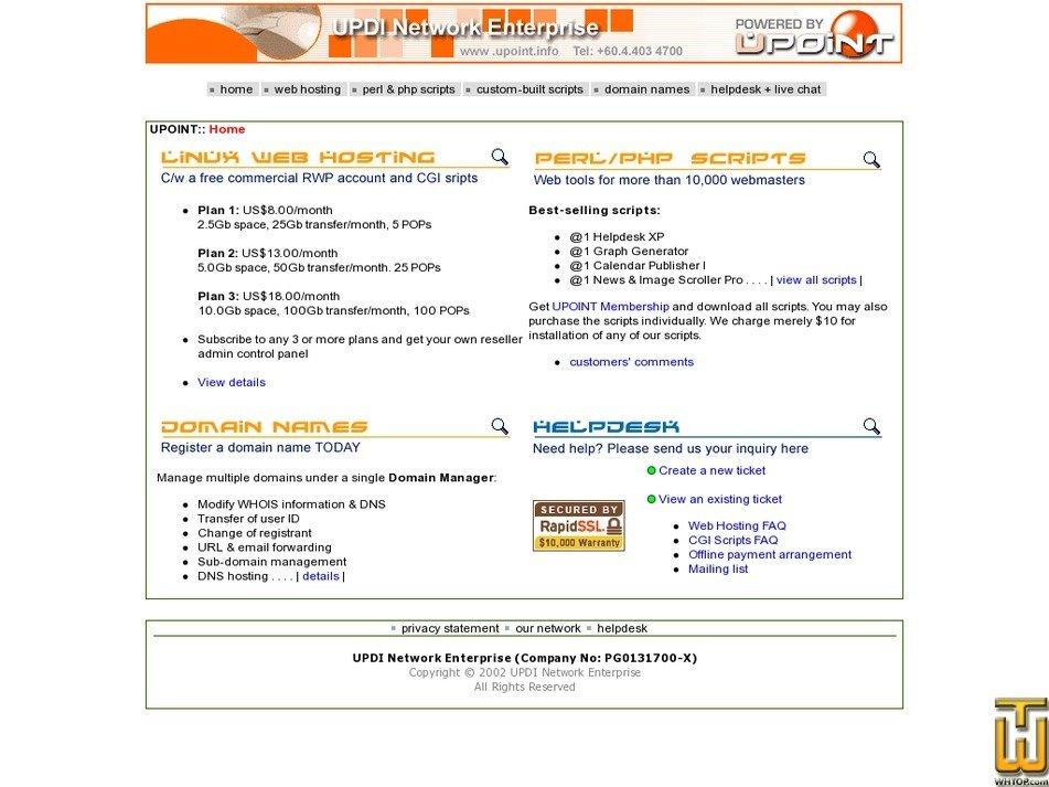 upoint.info Screenshot