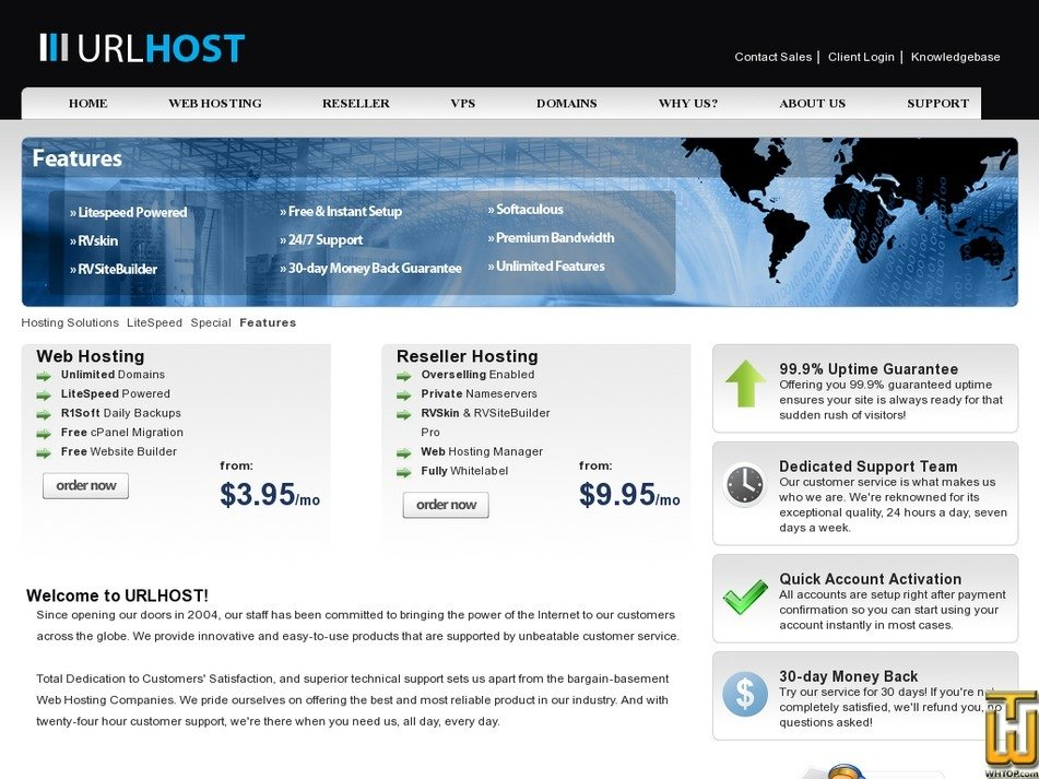 urlhost.net Screenshot