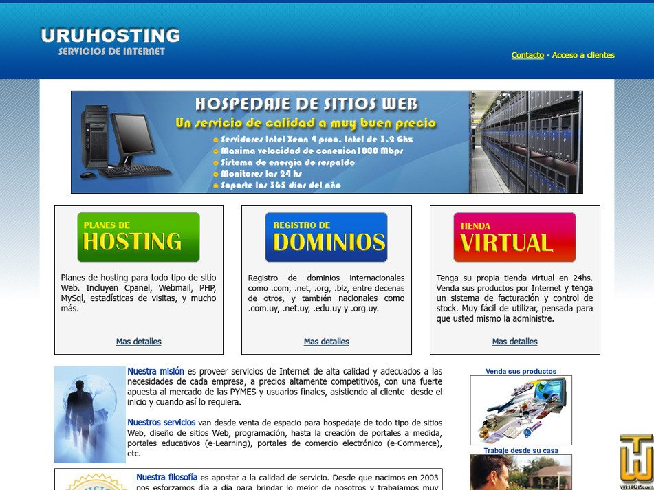 uruhosting.com Screenshot