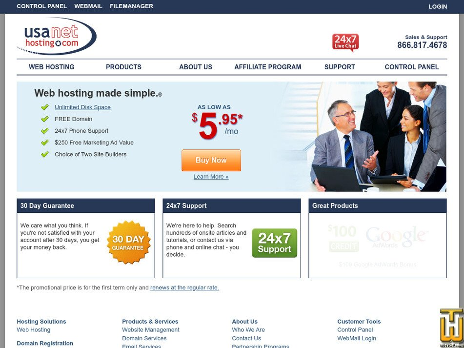 usanethosting.com Screenshot