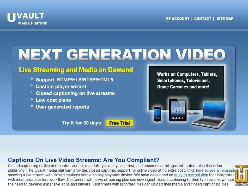uvault.com Screenshot