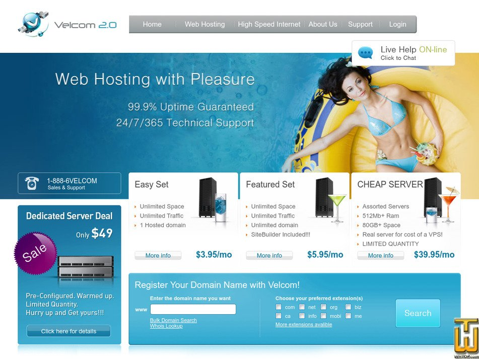 velcom.com Screenshot