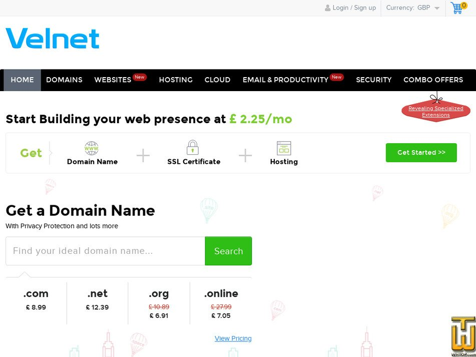 velnet.com Screenshot