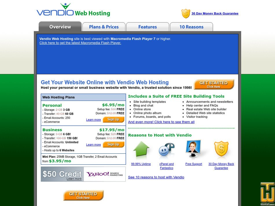 vendioweb.com Screenshot