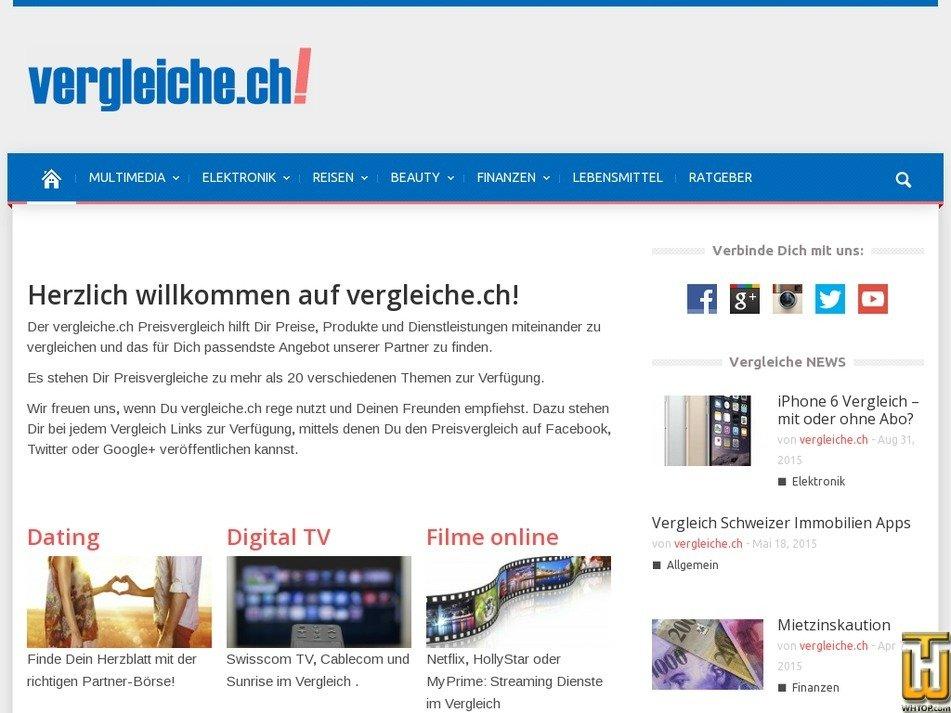 vergleiche.ch Screenshot
