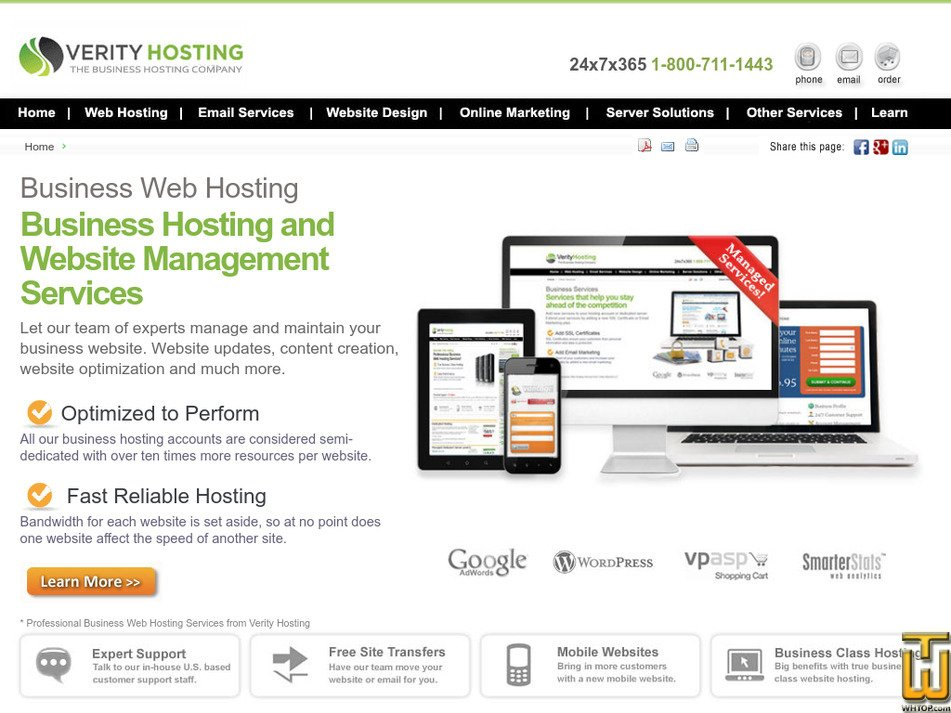 verityhosting.com Screenshot