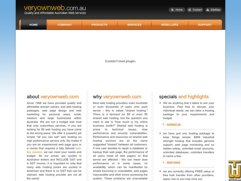 veryownweb.com Screenshot