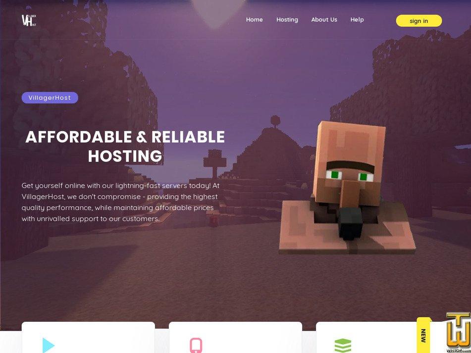 villagerhost.net Screenshot