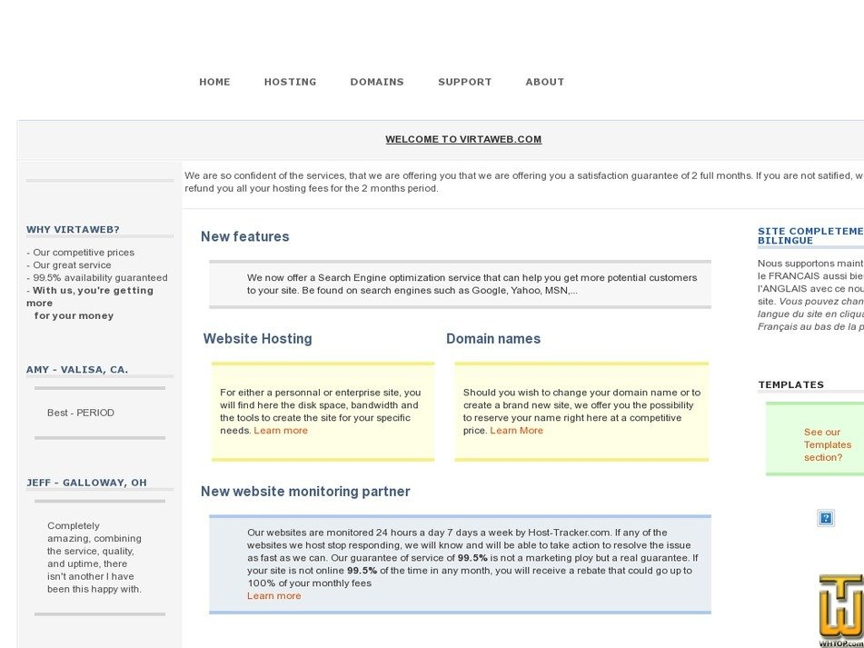 virtaweb.com Screenshot