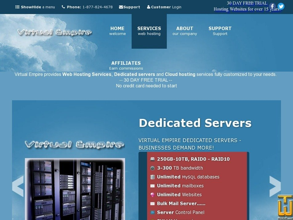 virtualempire.com Screenshot