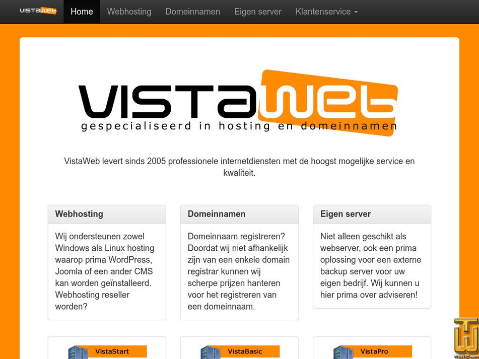 vistaweb.nl Screenshot