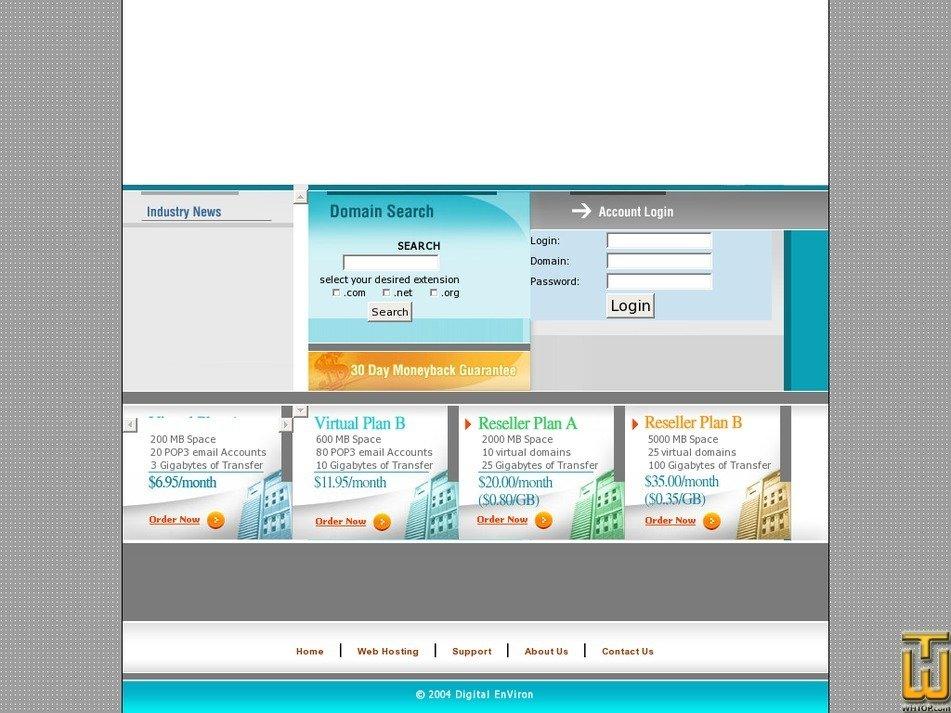 vivhost.com Screenshot
