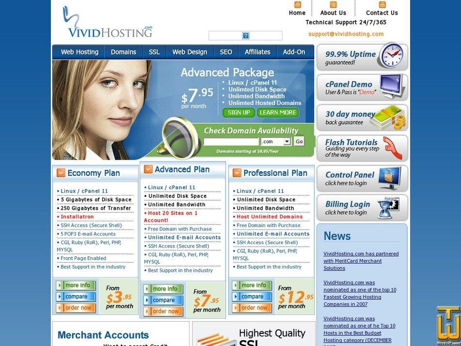 vividhosting.com Screenshot