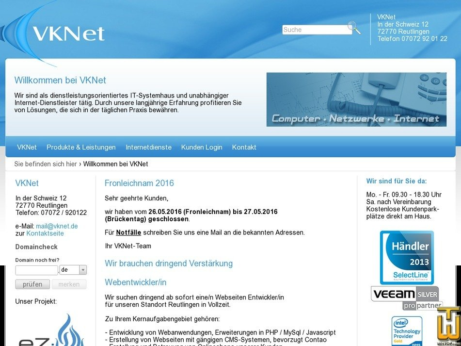 vkn.de Screenshot