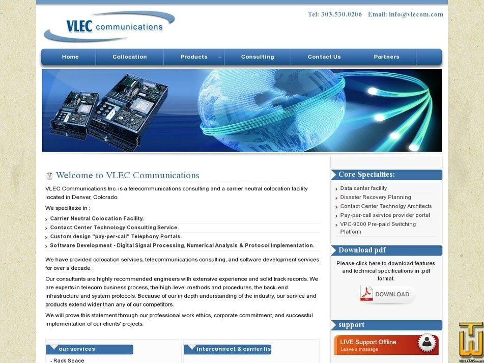 vlecom.com Screenshot