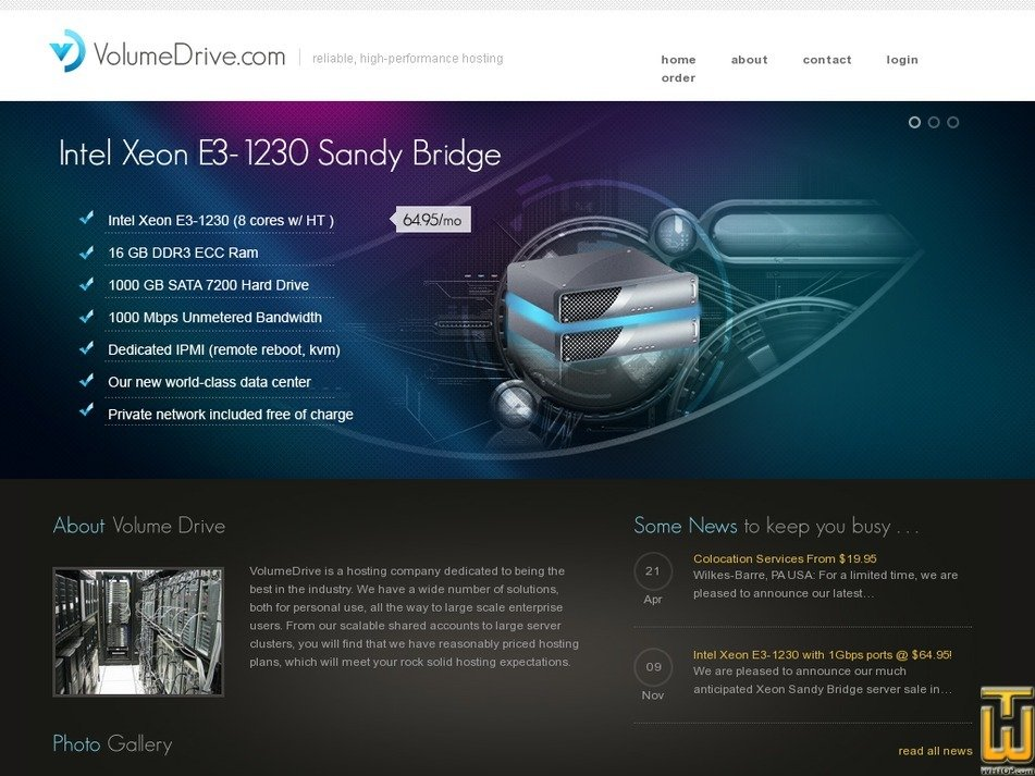 volumedrive.com Screenshot