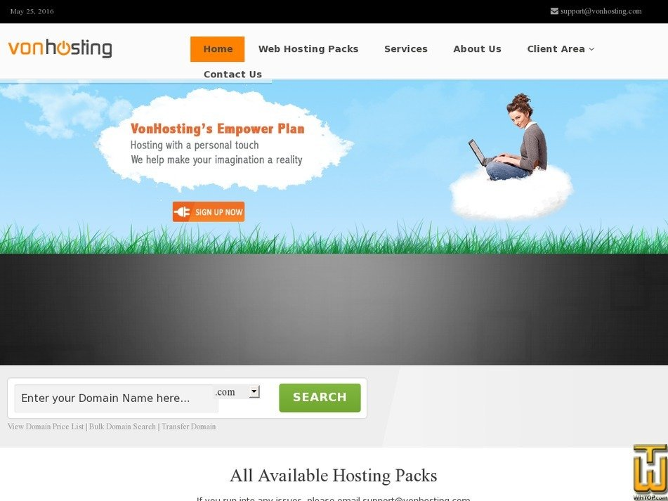 vonhosting.com Screenshot