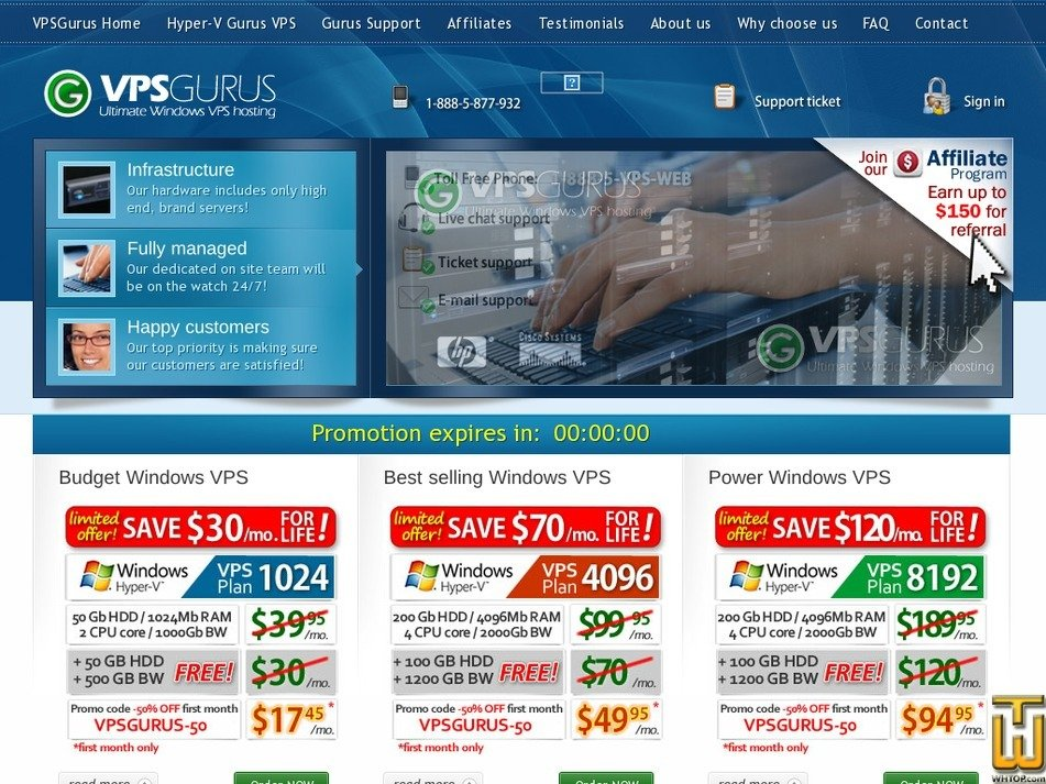 vpsgurus.com Screenshot