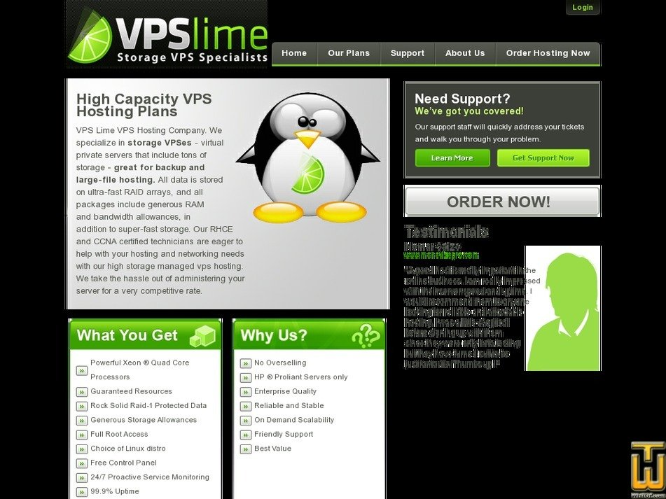 vpslime.com Screenshot