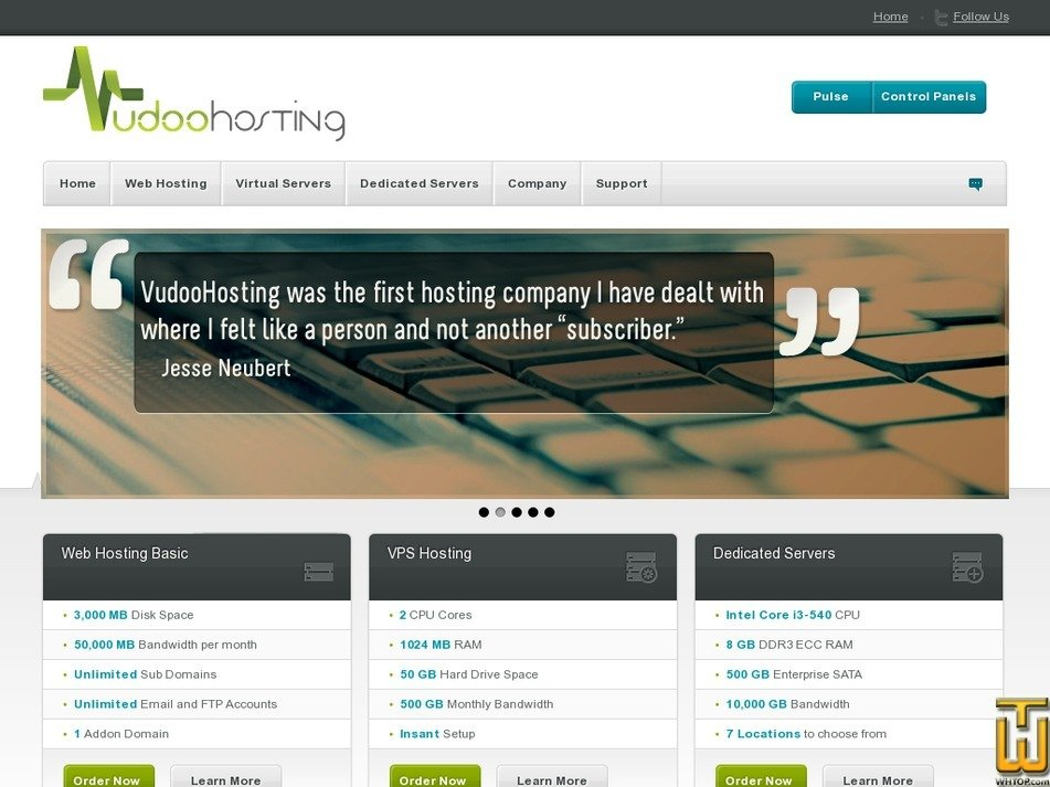 vudoohosting.com Screenshot
