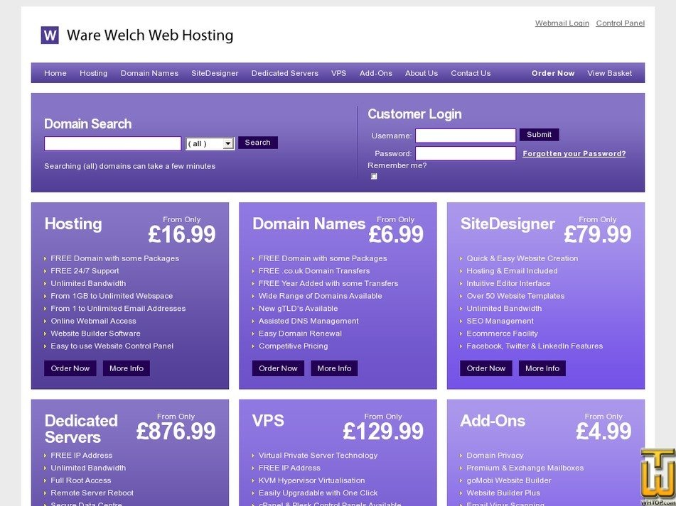 warewelchwebhosting.co.uk Screenshot