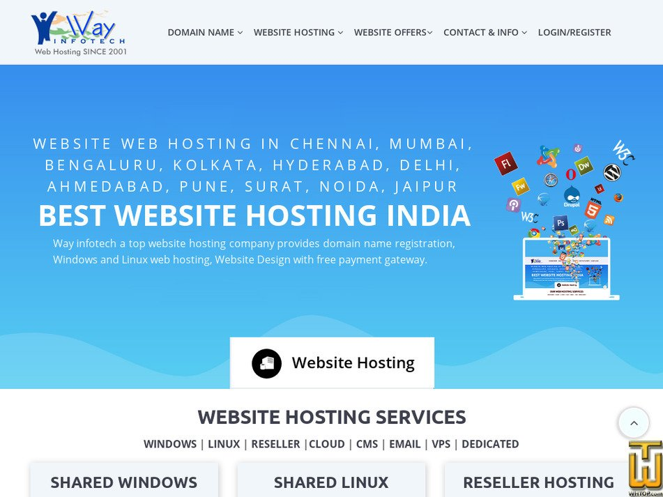 wayinfotech.com Screenshot