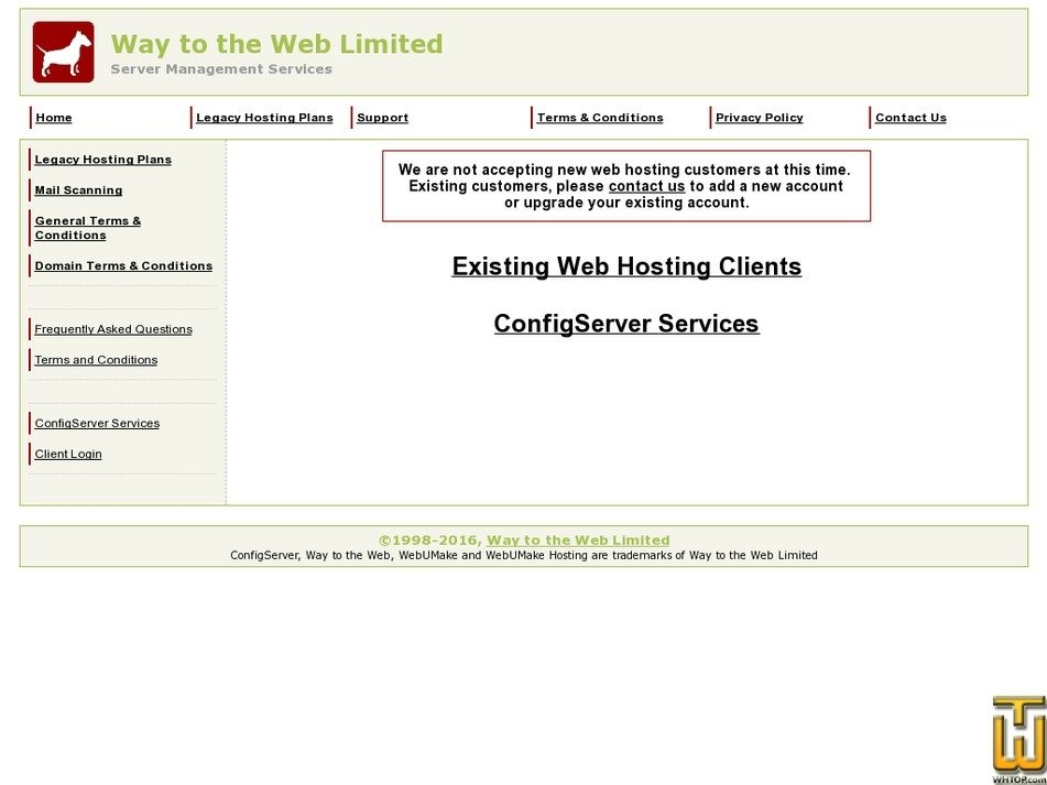 waytotheweb.com Screenshot
