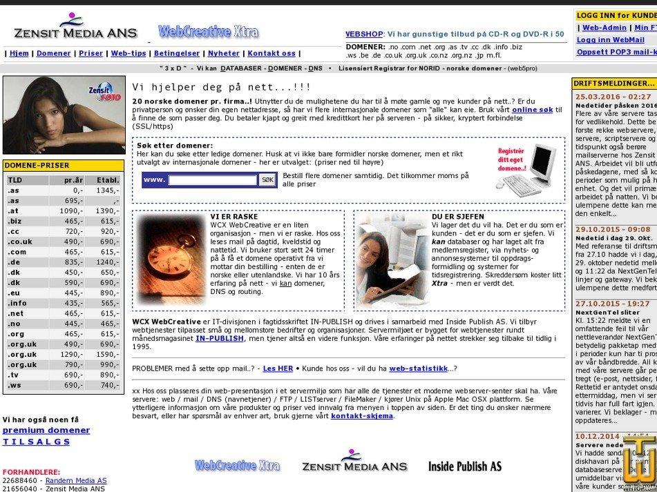 wcx.no Screenshot