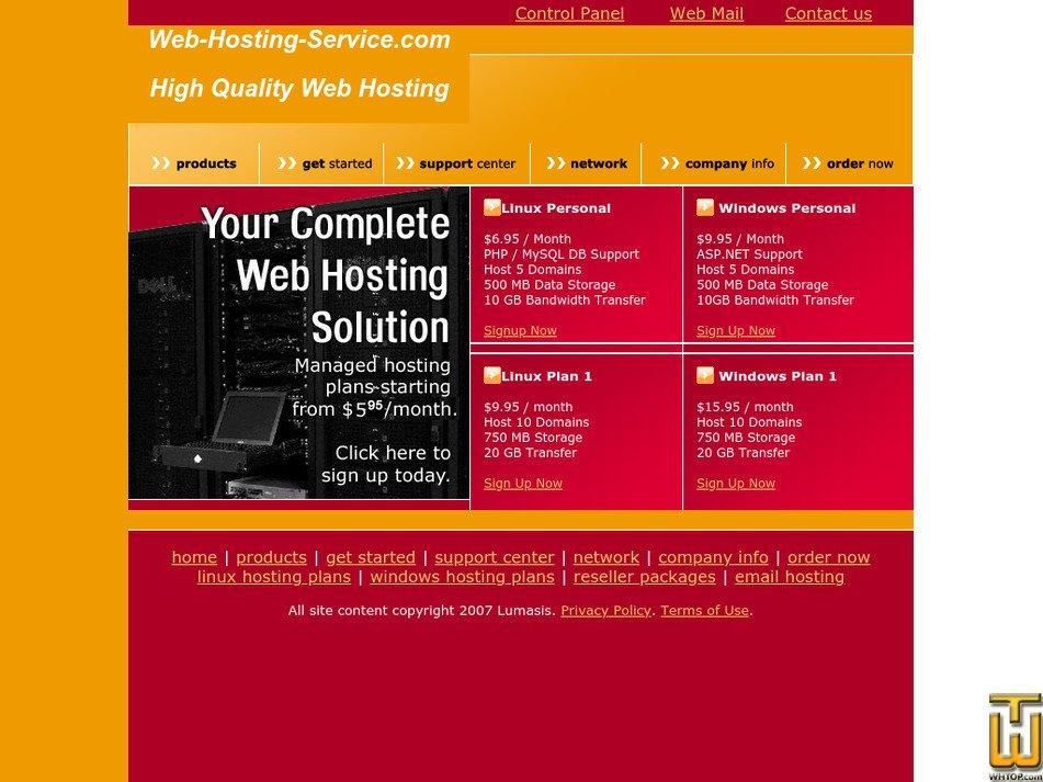 web-hosting-service.com Screenshot