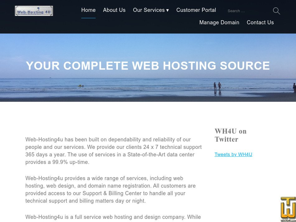 web-hosting4u.com Screenshot
