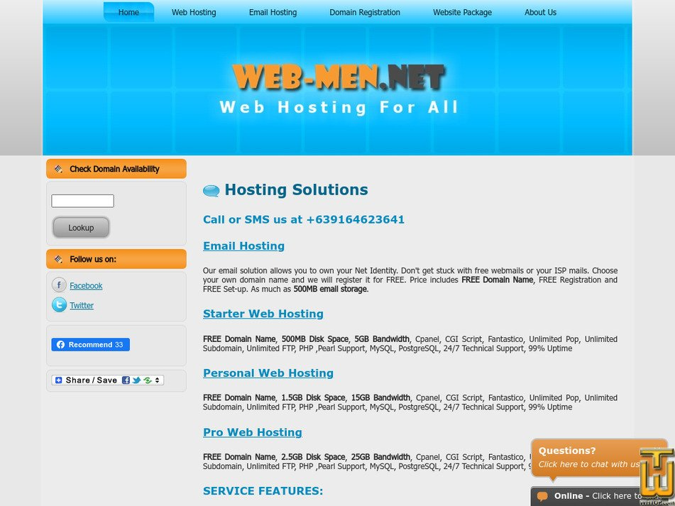 web-men.net Screenshot