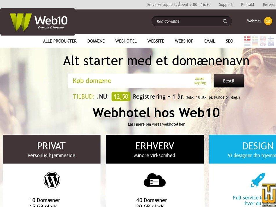 web10.dk Screenshot