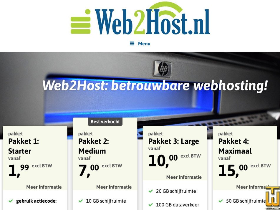 web2host.nl Screenshot