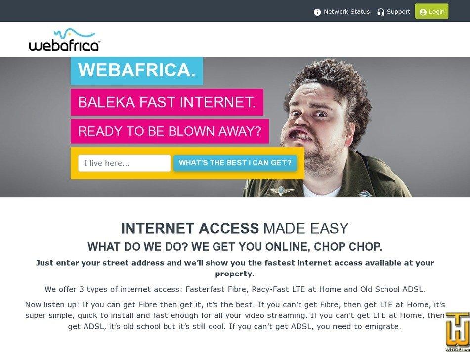 webafrica.co.za Screenshot