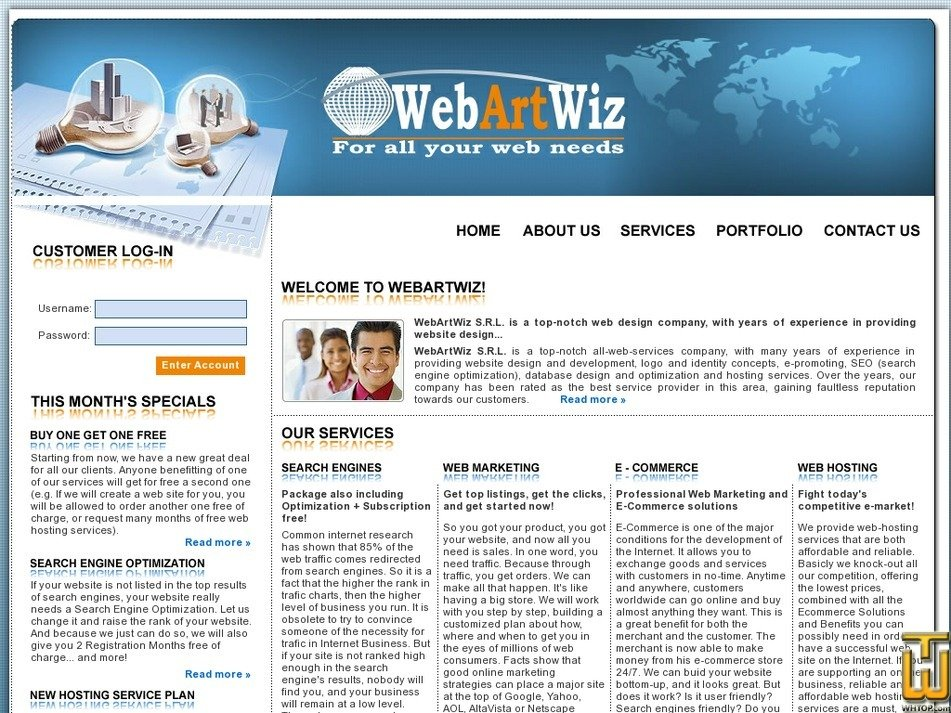 webartwiz.com Screenshot