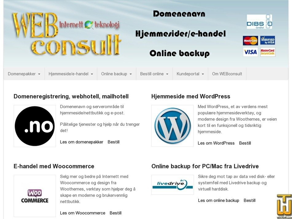 webconsult.no Screenshot