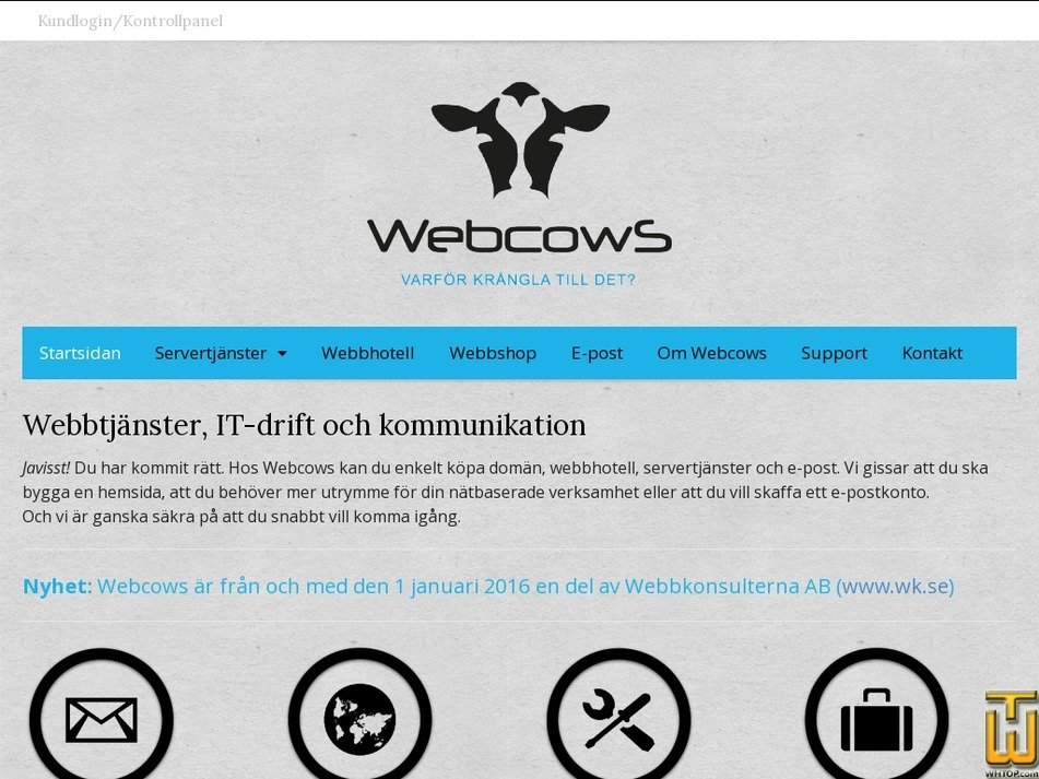 webcows.se Screenshot